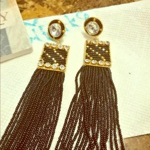 Black beautiful earrings